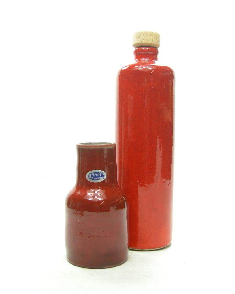 1254 – vaasje Diuf's keramiek rood