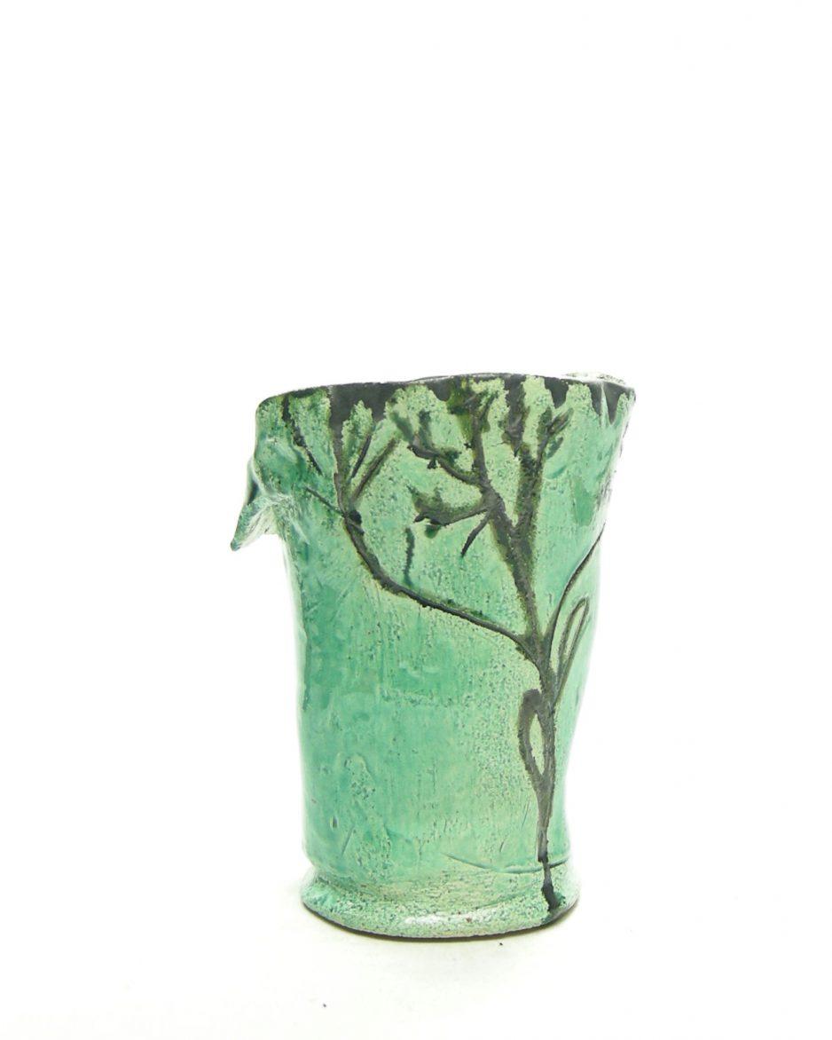 1258 - bloempot G.K. 1-1-90 groen