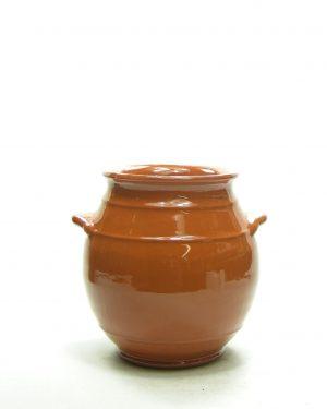 1259 – bloempot kruikmodel bruin