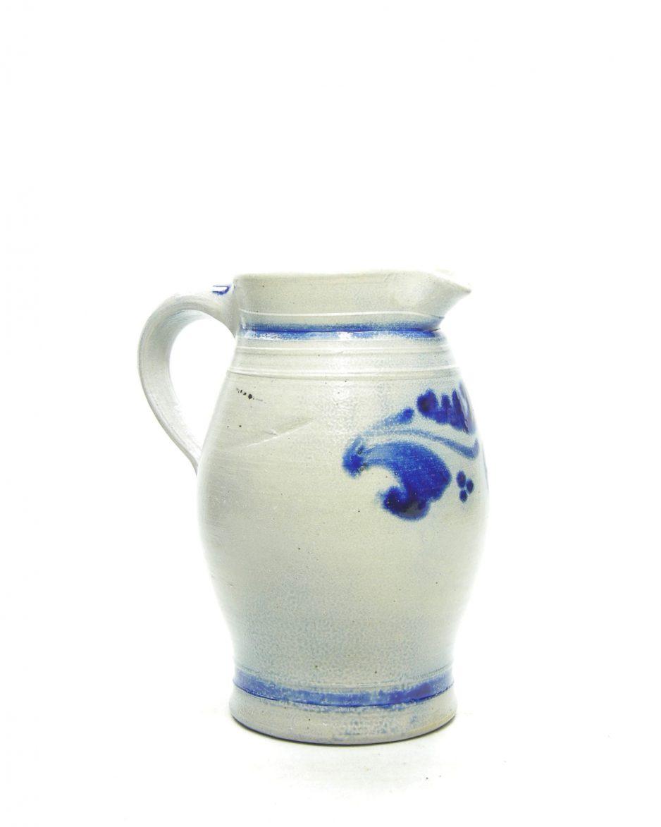 1262 - pitcher Keuls aardewerk grijs-blauw