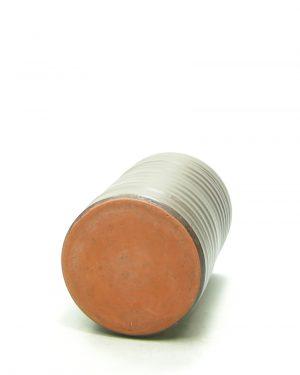 1272 – bloempot met horizontale groeven bruin