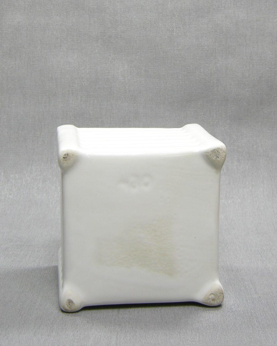 1288 - bloempot 420 vierkant wit