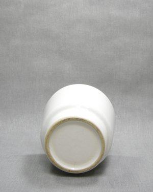 1289 – bloempot met ribbels wit