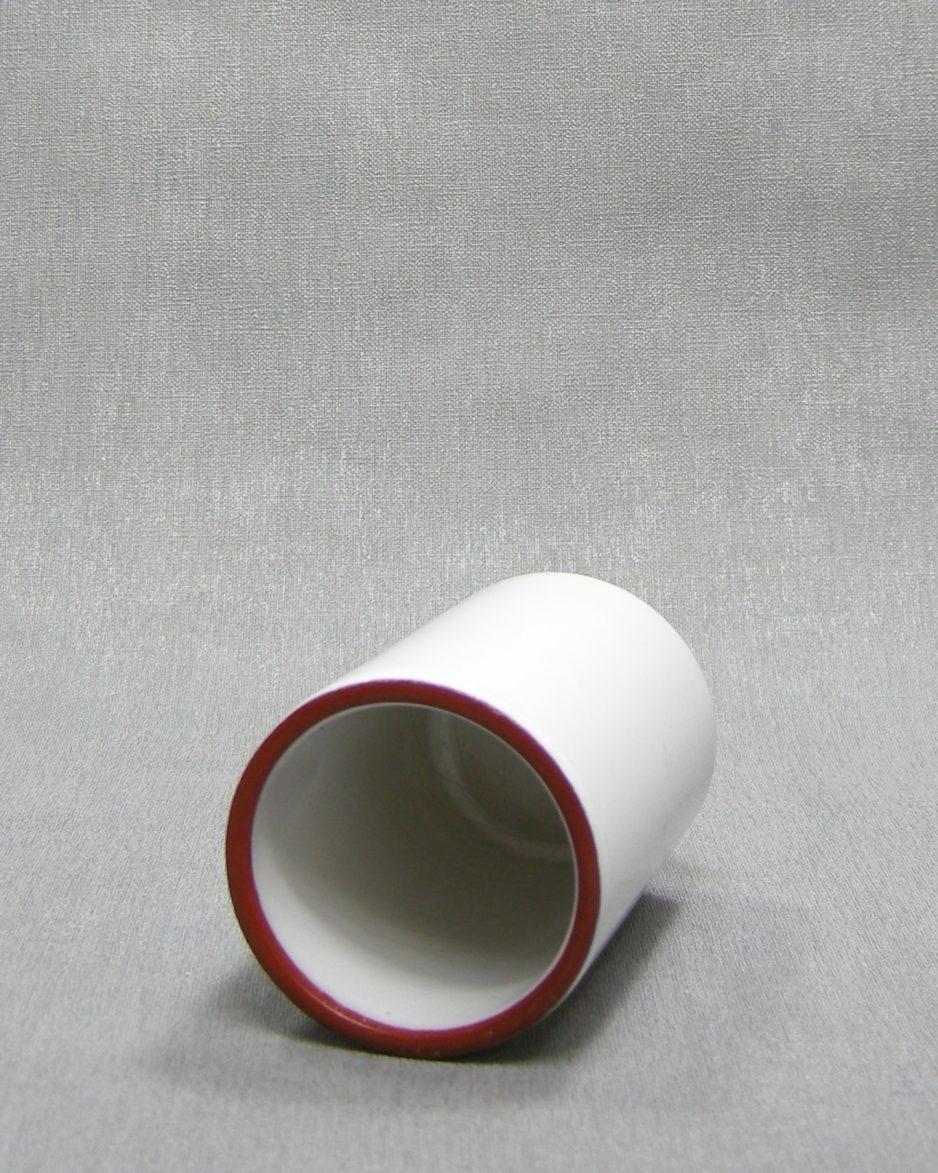 1291 - vaasje cilinder vorm wit