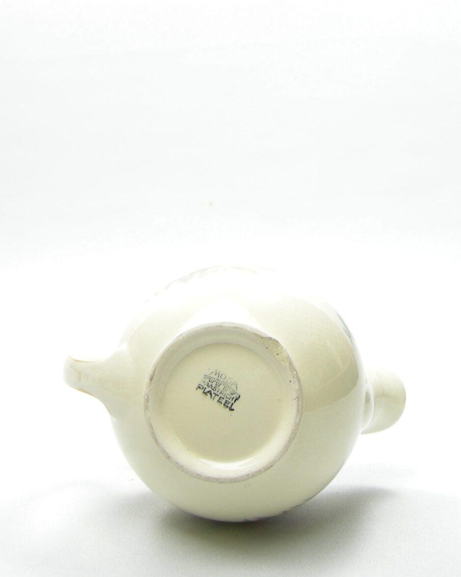 946 - melkkannetje Mosa Plateel jaren 40-50 geeL