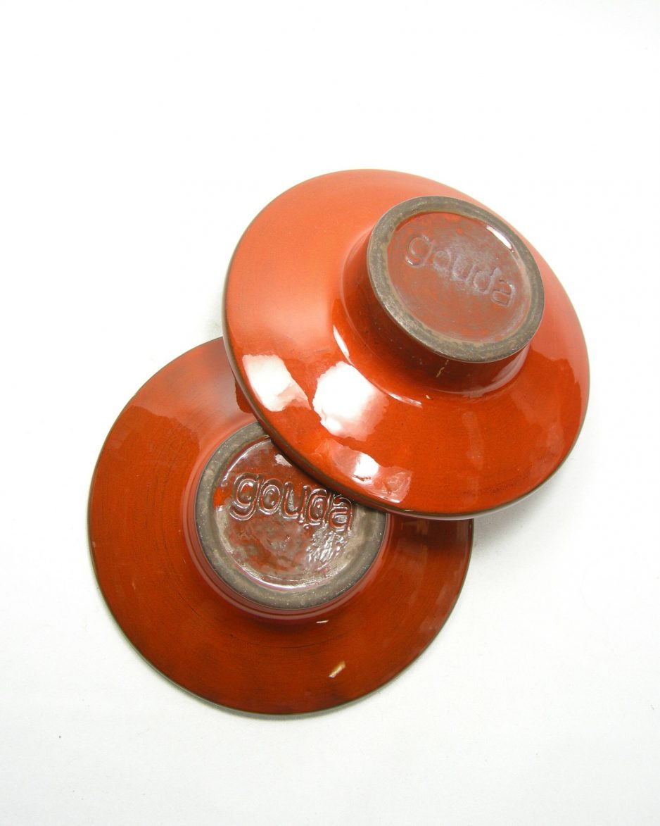 955 - kandelaar Gouda oranje