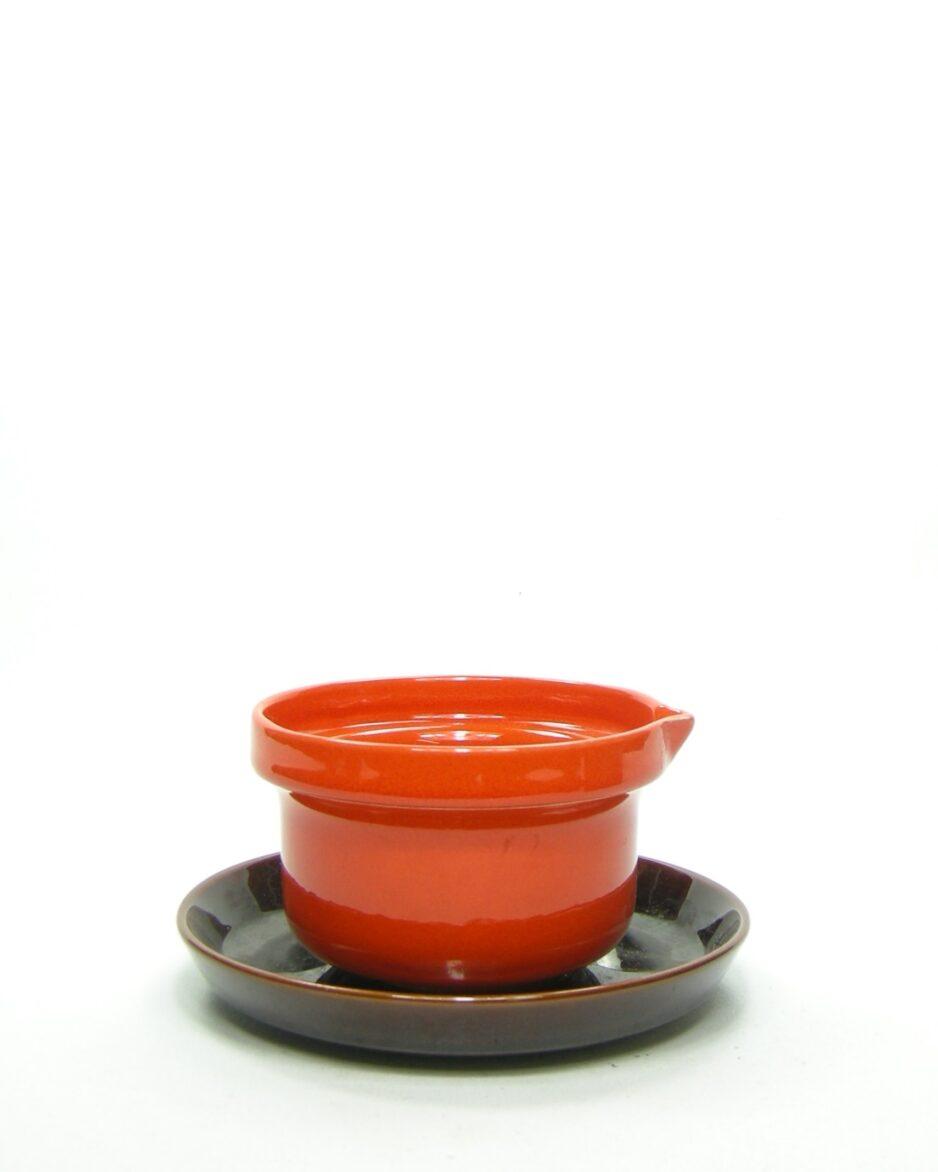 967 - sauskom Huizen Holland oranje - bruin