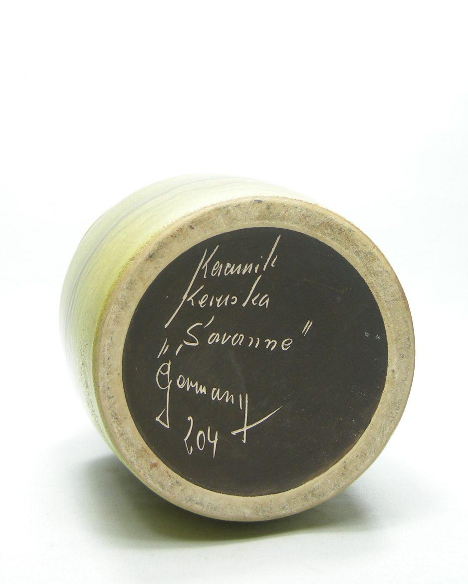 1299 - vaas Keruska Keramik Germany Savanna 204 groen