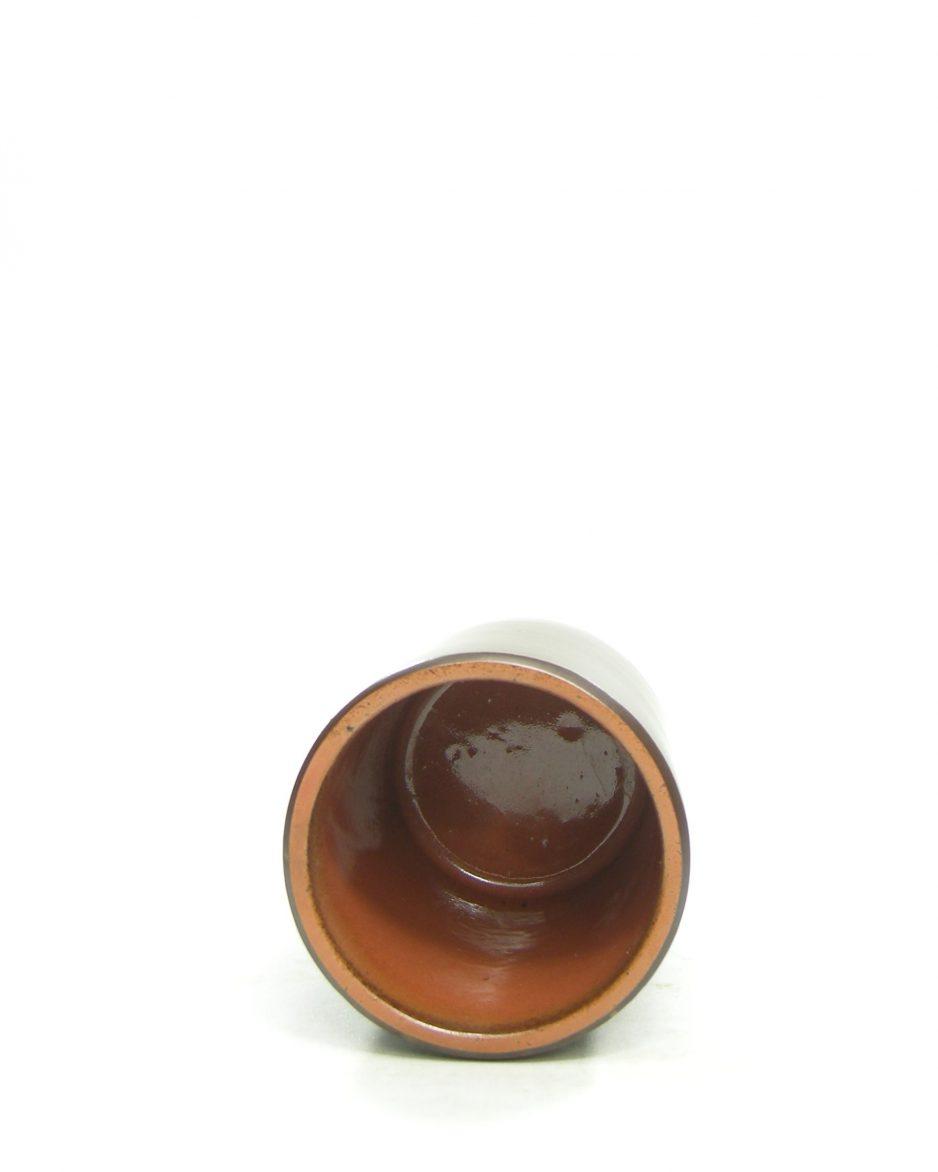 1309 - vaasje - bloempotje Unique Keramiek bruin