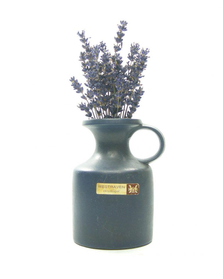1313 – vaas Westraven Keramik Keruska Sinatra Germany 101 blauw (1)