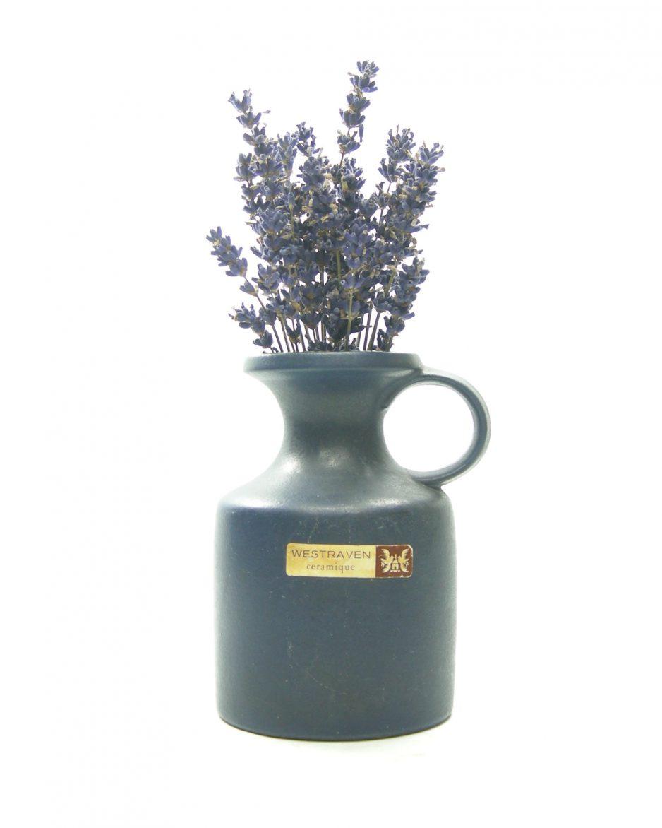 1313 - vaas Westraven Keramik Keruska Sinatra Germany 101 blauw
