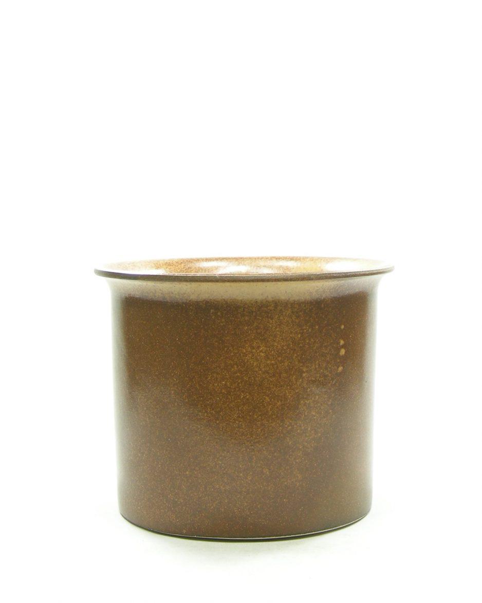 1317 - bloempot retro bruin