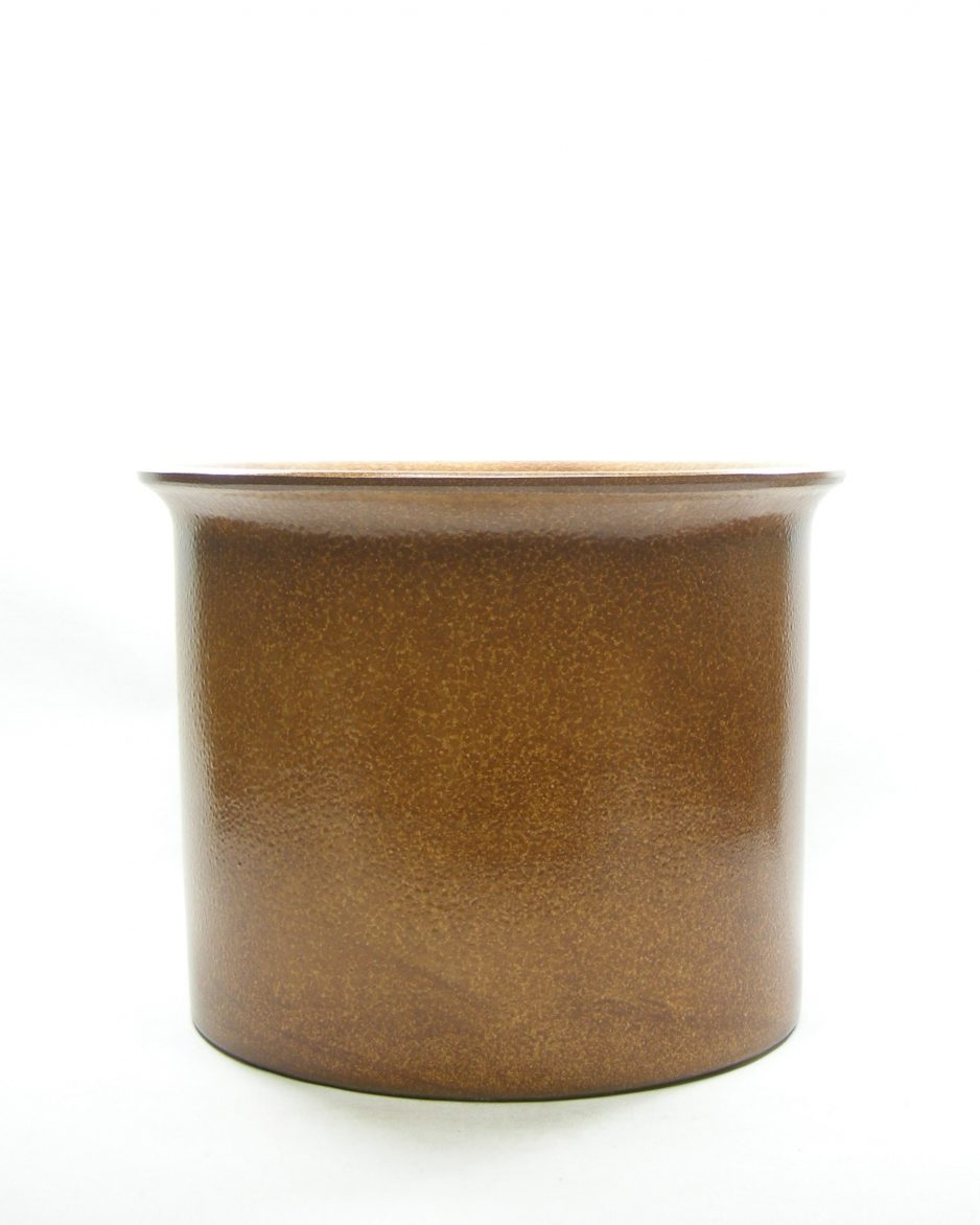 1318 - bloempot groot retro bruin