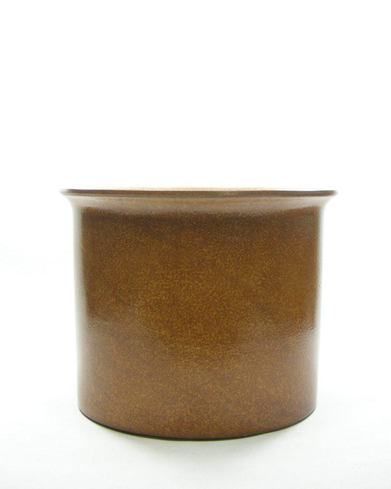 1318 – bloempot groot retro bruin (4)