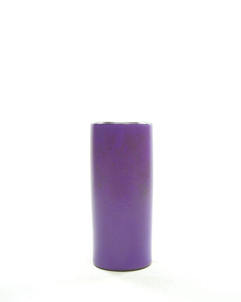 1321 – vaas – bloempotje cilinder vorm paars (4)