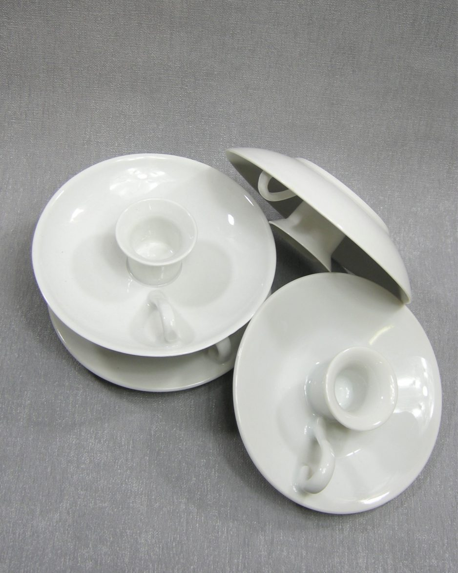 004 - kandelaar met oortje wit