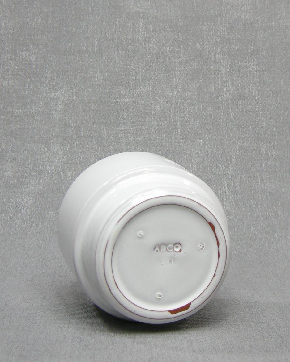 1333 - bloempot ADCO 291 op stokjes gebakken wit
