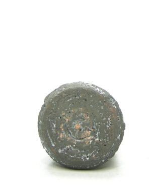 1343 – vaasje grof keramiek bruin – wit (
