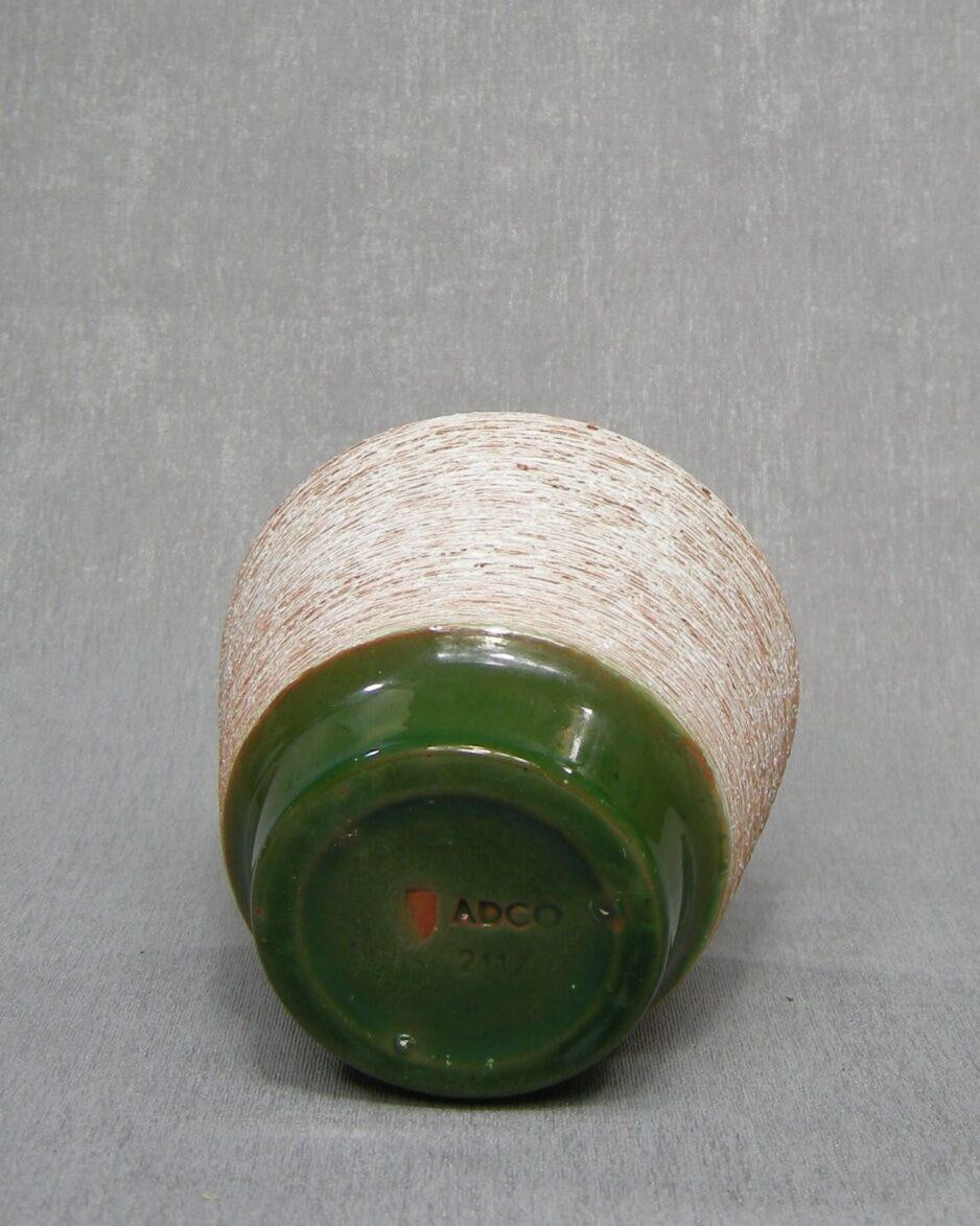 1352 - bloempot ADCO 21171 wit - bruin - groen