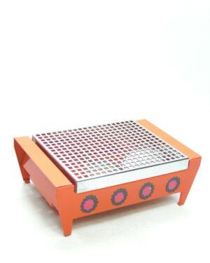 1382 – warmhoudplaat/rechaud dessin Patrice Jaren 70 oranje