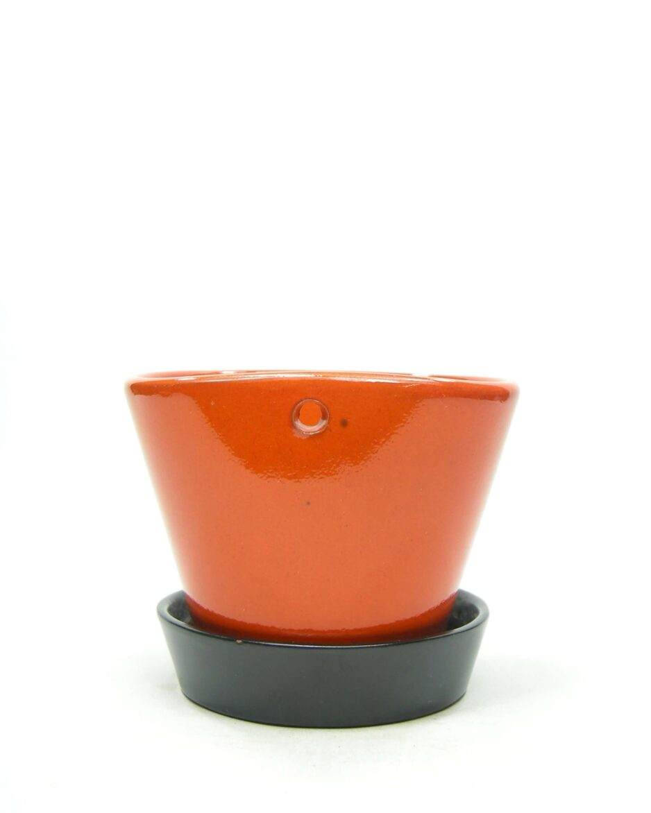1383 - wand bloempot ADCO 200 oranje - bruin