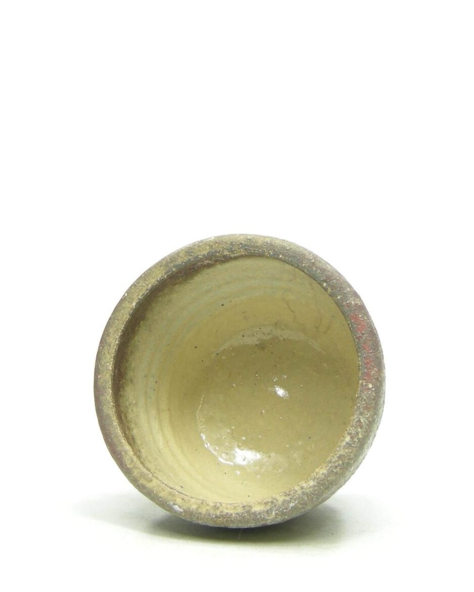 1387 - bloempot Mobach bruin - rood - groen