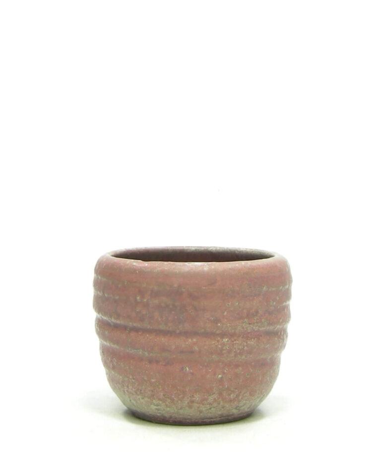 1388 – bloempot Mobach bruin – rood