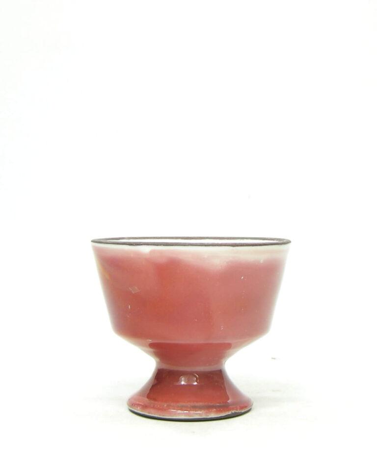 1397 – bloemenvaasje Pottenbakkerij Nagtegaal Utrecht oud roze parelmoer