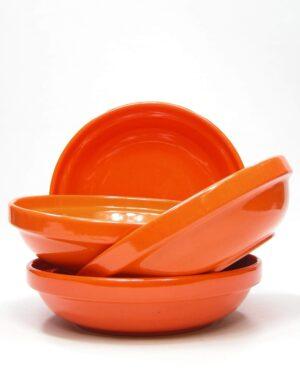1398 - diepe borden Huizen Holland oranje