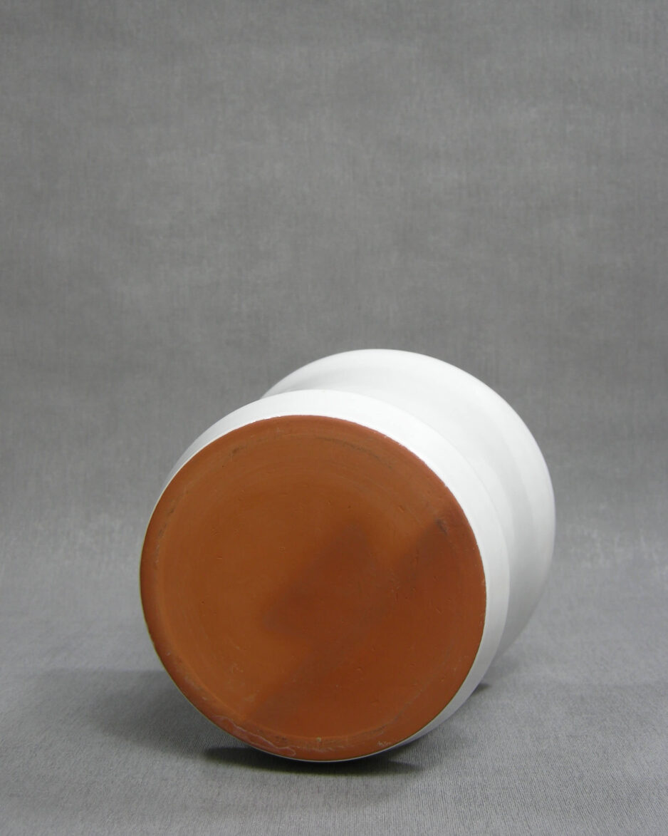1409 - wand bloempot wit
