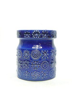 1424 - voorraadpot motief blauw
