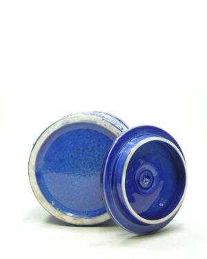 1424 – voorraadpot motief blauw
