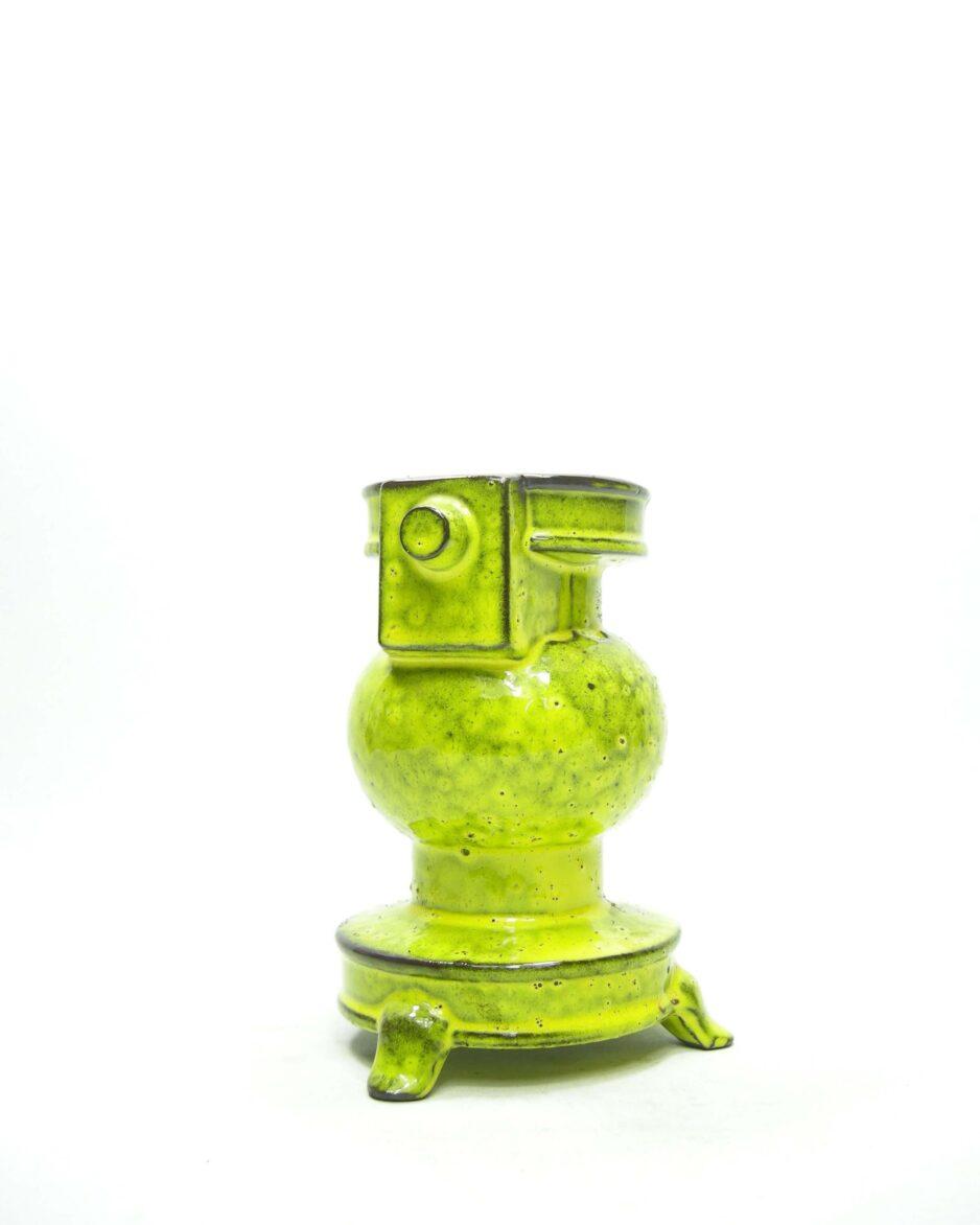 1426 - bloempot kachel geel