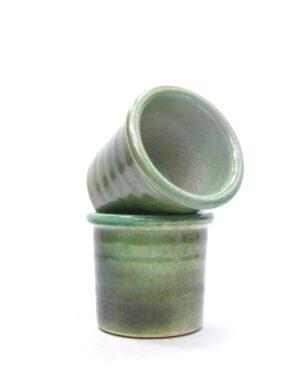 1427 – bloempot groen tinten