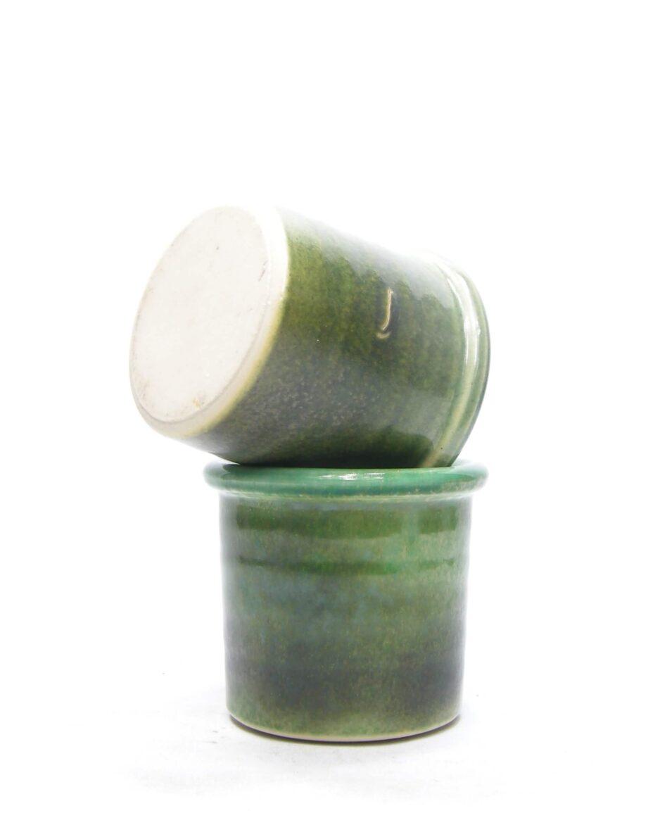 1427 - bloempot groen tinten