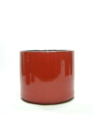 1432 - bloempot ADCO 21124 op stokjes gebakken rood