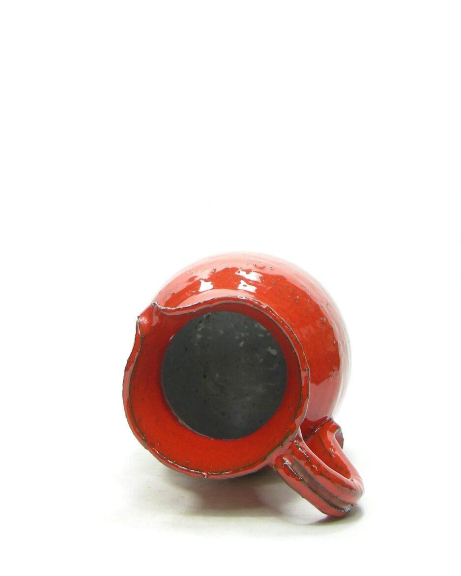1433 - vaas - pitcher grof aardewerk rood