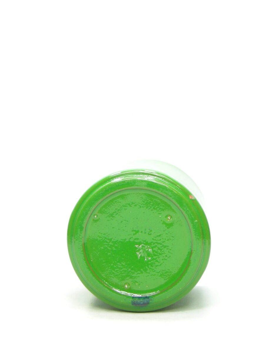 1435 - bloempot ADCO 21191 op stokjes gebakken groen