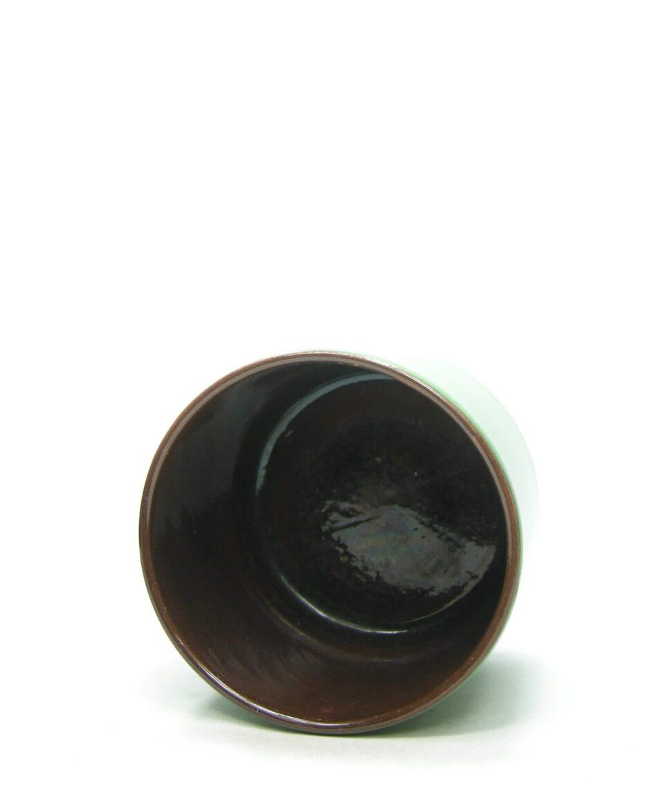 1436 - bloempot ADCO 21124 op stokjes gebakken groen