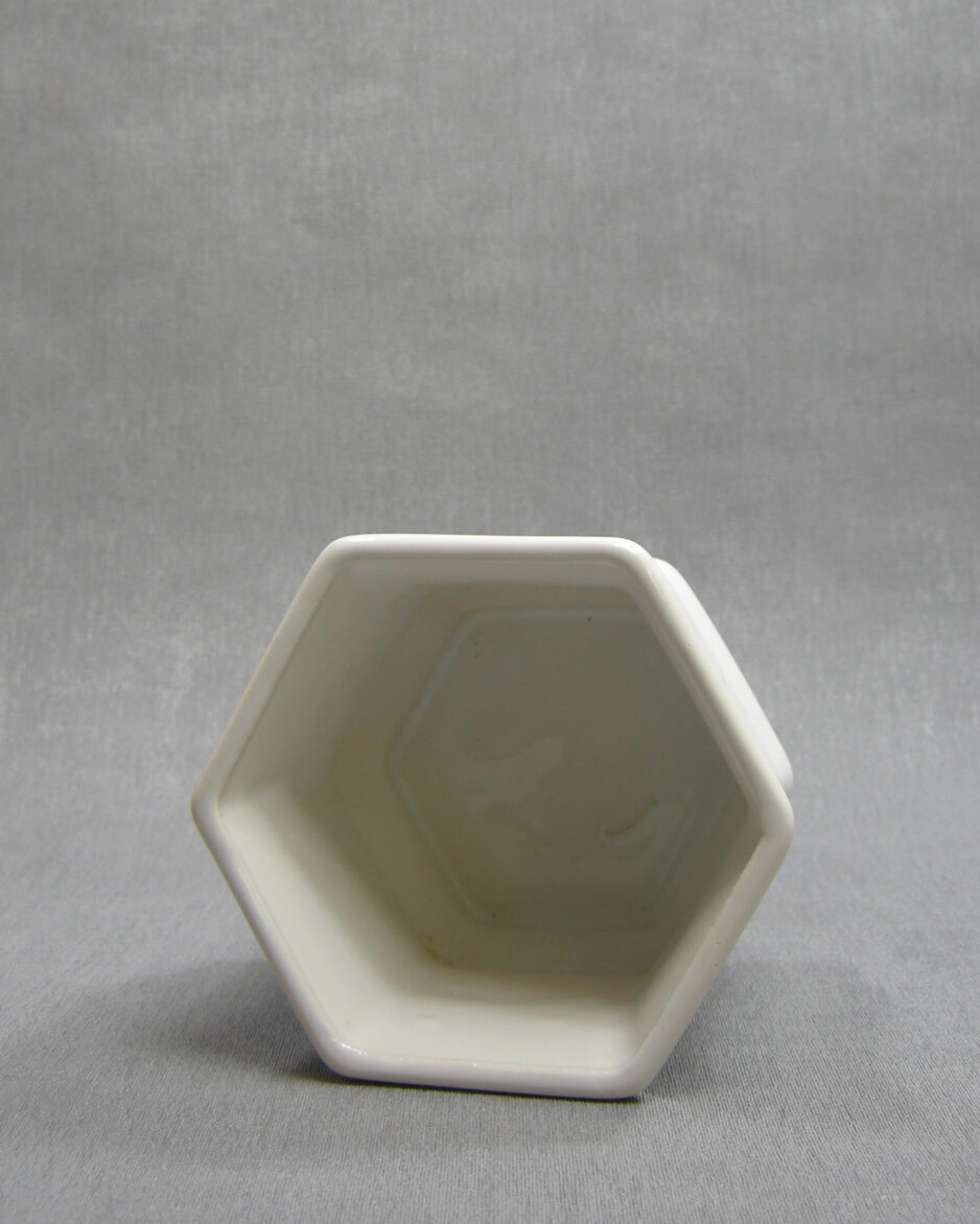 1446 - bloempot bamboe wit