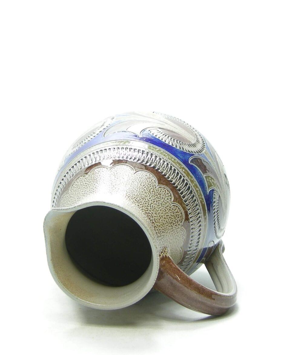 1467 - Pitcher handarbeit 20920 gesigneerd grijs - blauw - bruin