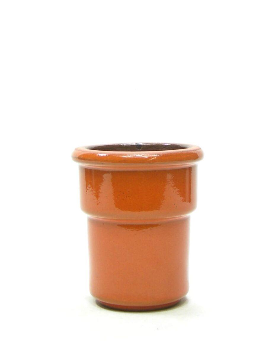 1476 - bloempot retro oranje