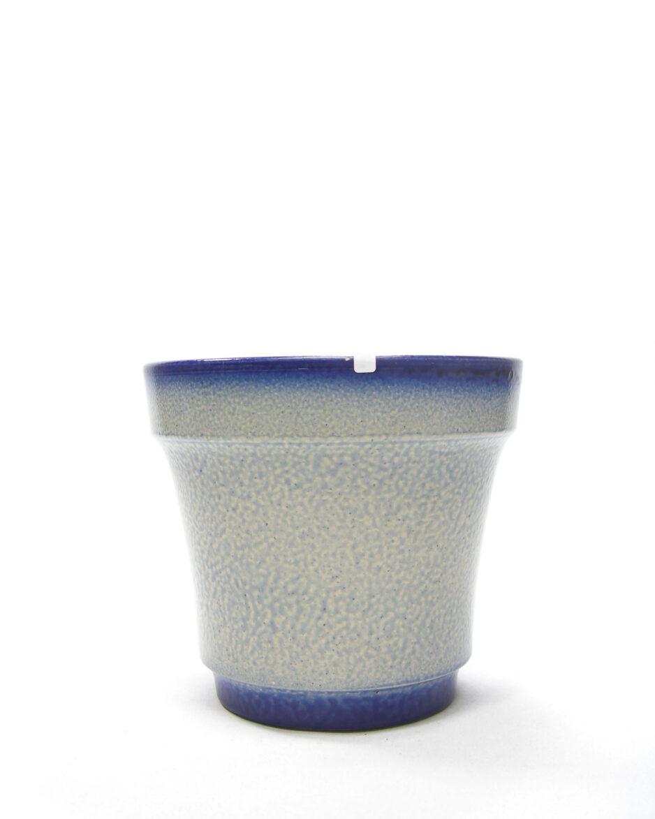 1477 - bloempot Keuls aardewerk blauw