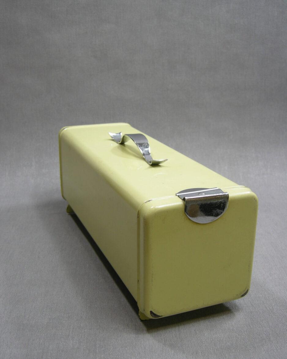 88 - Brabantia Ontbijtkoek- caketrommel geel