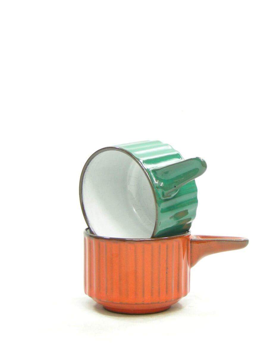 1377 - saus bakjes groen en oranje