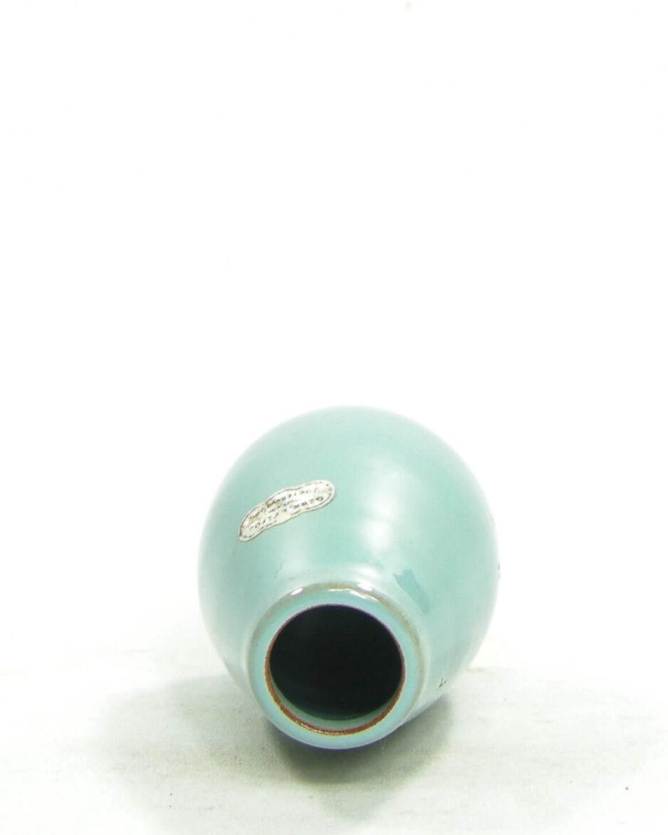 1479 - vaasje Delfos Zoeterwoude licht blauw