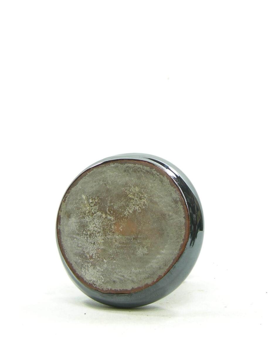 1487 - vaasje Delfos Zoeterwoude metallic zwart