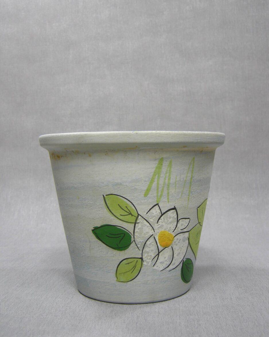 1501 - bloempot kikker Glasur Keramik Germany 2292-17 blauw - groen