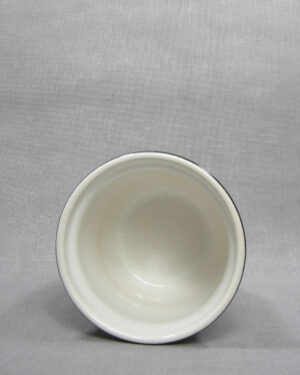 1511 – bloempot met gekleurde rand grijs – zwart – wit