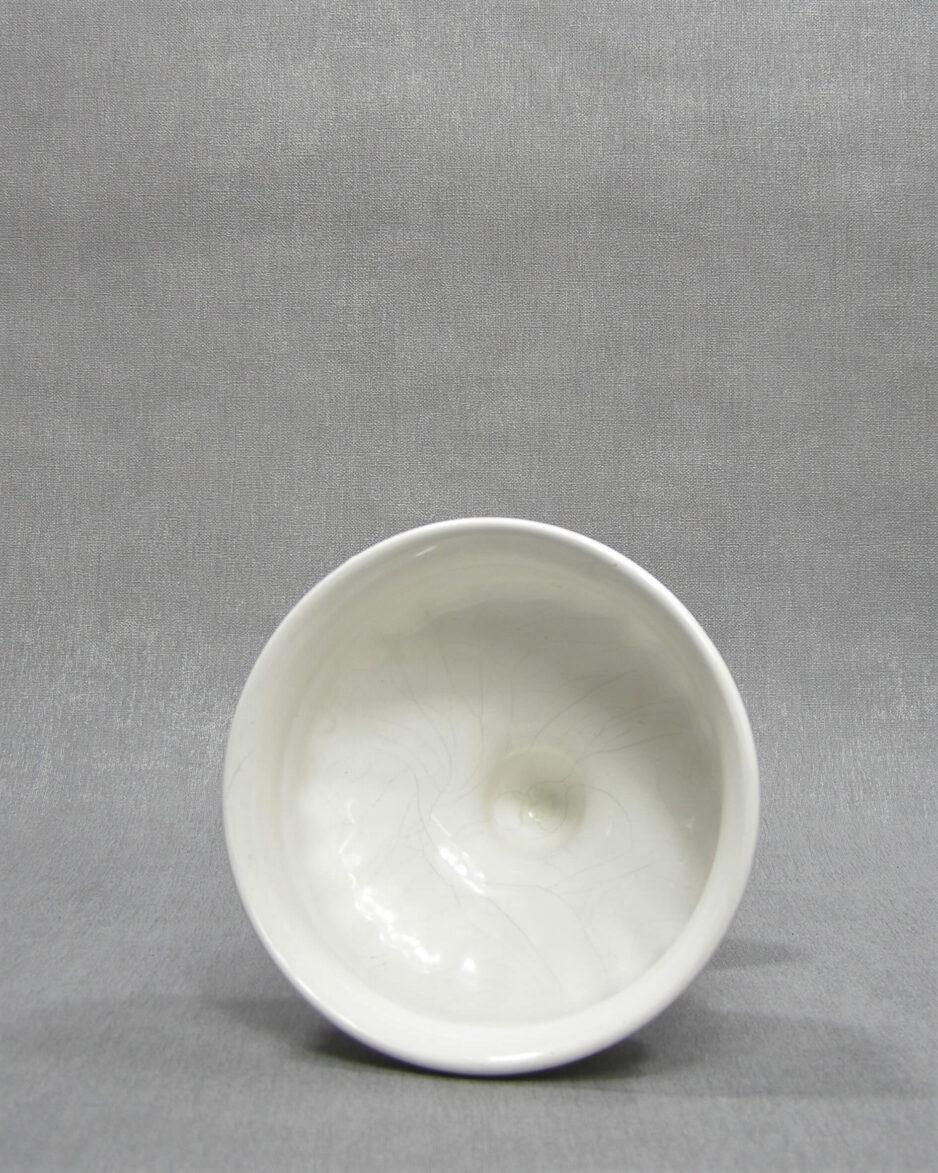 1512 - bloempot 232 op voet wit